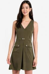 50% off ZALORA Utility Fit & Flare Dress