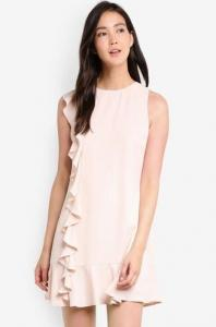 $25 off ZALORA Ruffle Front Dress