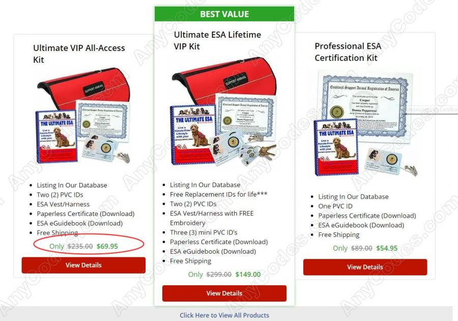 ESA Registration Coupon 2019, Coupon Codes by AnyCodes