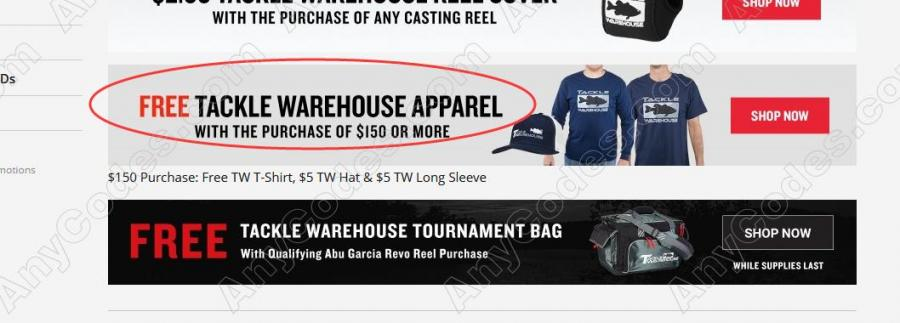 Tackle Warehouse Coupon September Promo Code 2019 by AnyCodes