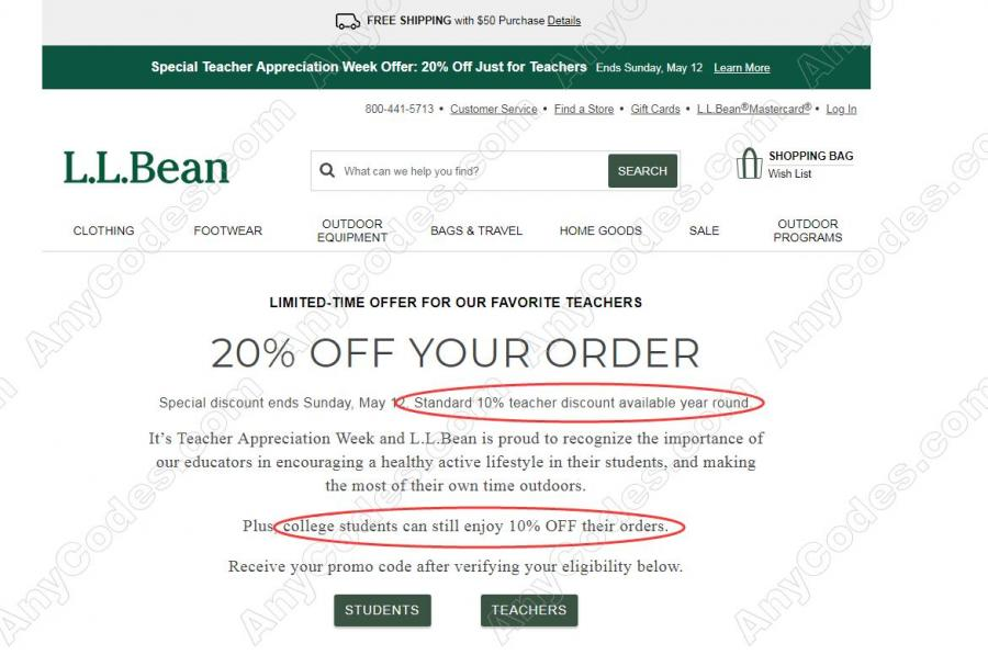 image about Llbean Printable Coupons called LL Bean Coupon and Promo Codes for 2019 by means of AnyCodes