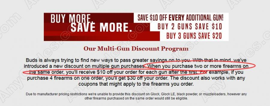 Buds Gun Shop Discount Coupon, Coupon Codes 2019 by AnyCodes