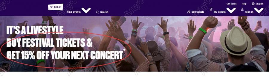 StubHub Discount Code Promo Codes & Fan Codes 2019 by AnyCodes