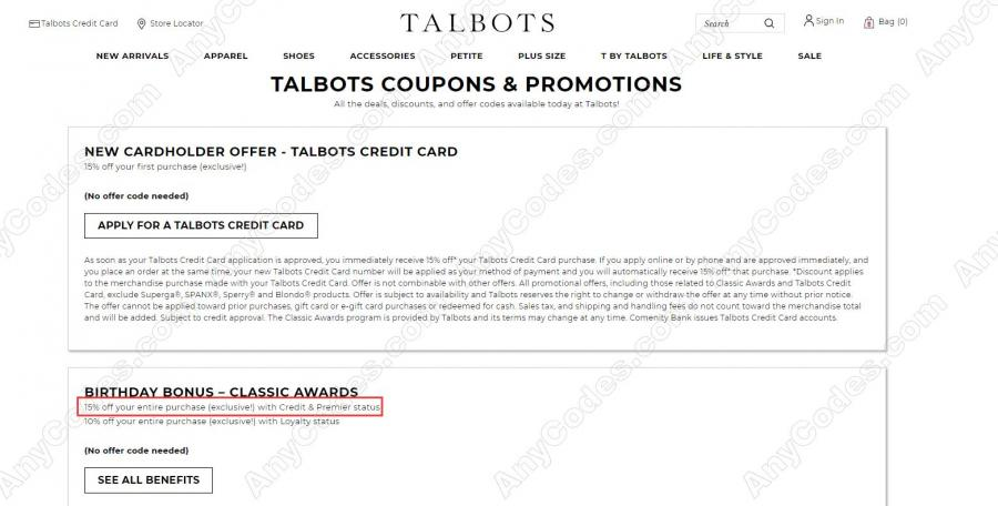 photograph regarding Talbots Printable Coupon known as Talbots Coupon Promo Codes No cost Delivery 2019 via AnyCodes
