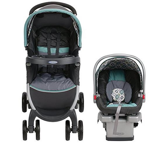 Graco FastAction Fold Click Connect Travel System Stroller, Affinia